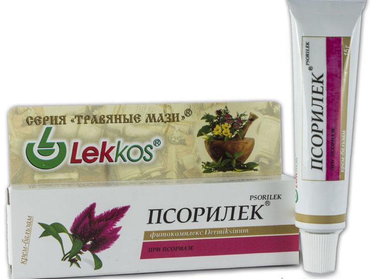 """Серия """"Травяные мази"""" Леккос Псорилек при псориазе 15 г."""
